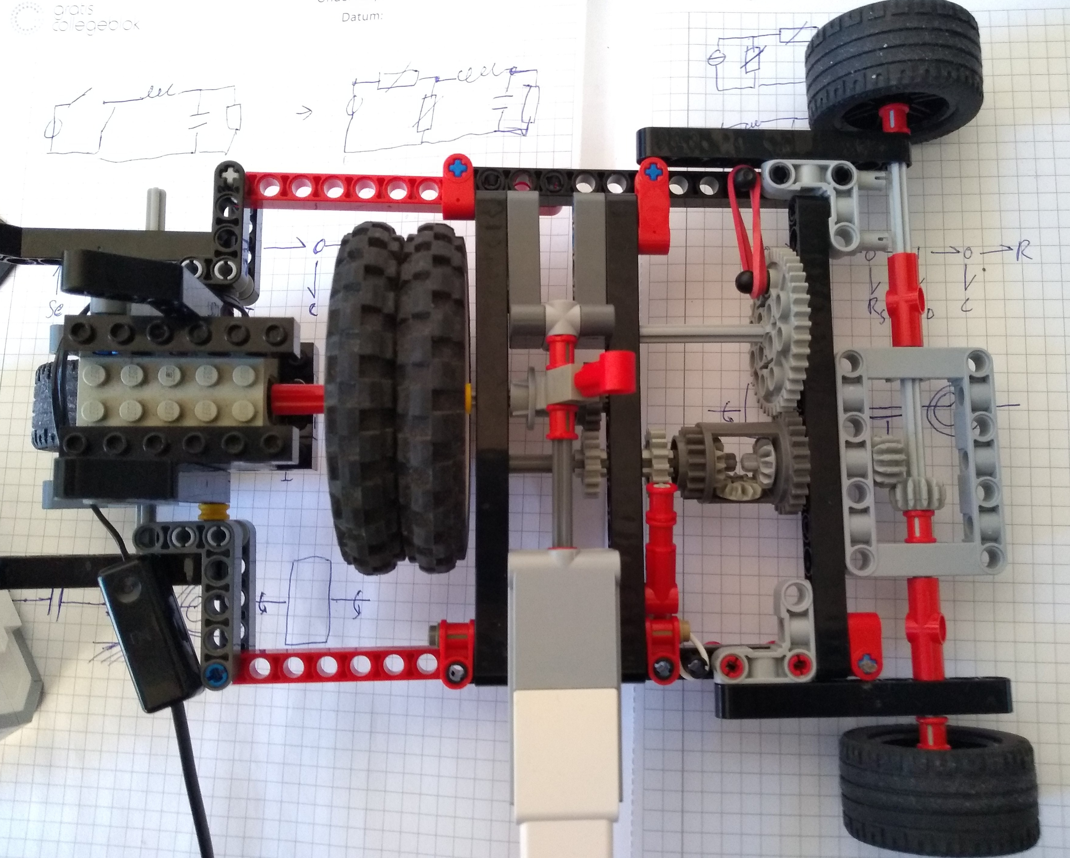 lego mechanical boost converter